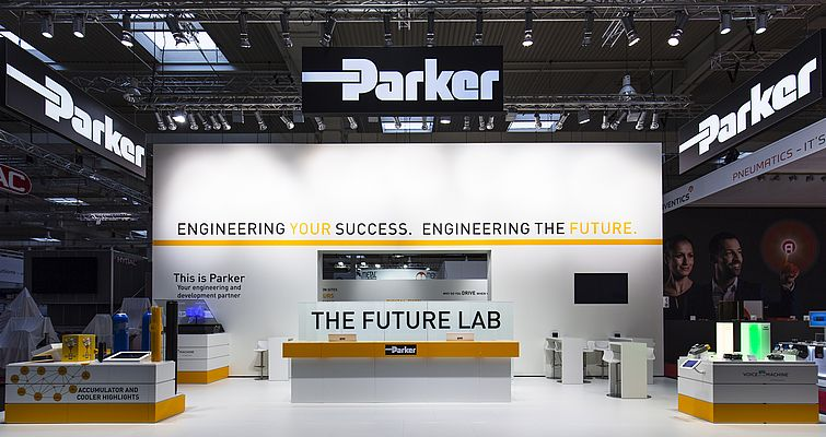 Lo stand di Parker Hannifin a Hannover Messe
