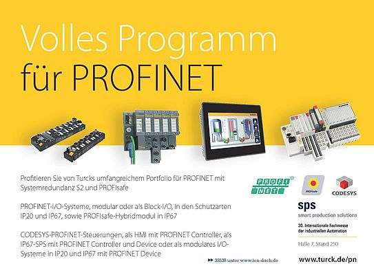 Volles Program für PROFINET