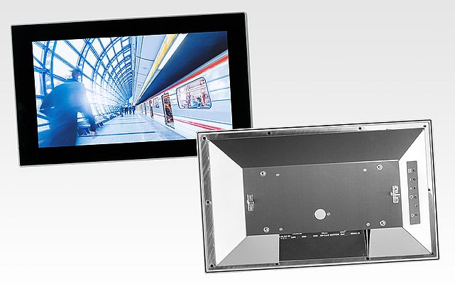 TFT-Display-Module mit Edelstahlchassis