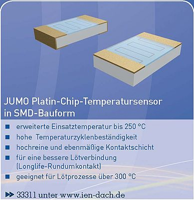 Platin-Chip-Temperatursensor in SMD-Bauform