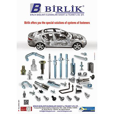 Birlik Bağlantı Elemanları; Birlik offers you the special solutions of systems of fasteners.