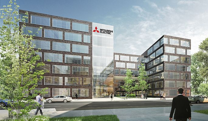 Mitsubishi Electric: Foundation Stone Laid at New Offices in Ratingen