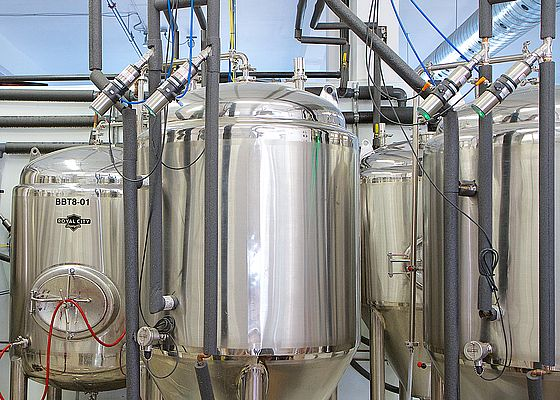 The stainless-steel design blended in seamlessly from the perspective of fit and finish with the brewery equipment