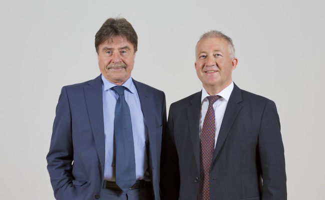 From the left to the right: Dr. Karl-Walter Braun (Majority Shareholder of maxon motor ag), Eugen Elmiger (CEO)