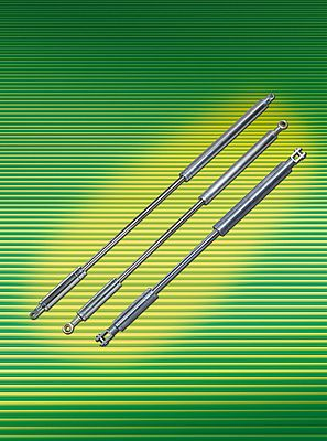 Tandem gas springs are equipped with a piston rod made of hard chromium plated steel and steel galvanized cylinder liners and connection parts. These durable and lean helpers are available with extension forces of 300 N to 5,000 N.