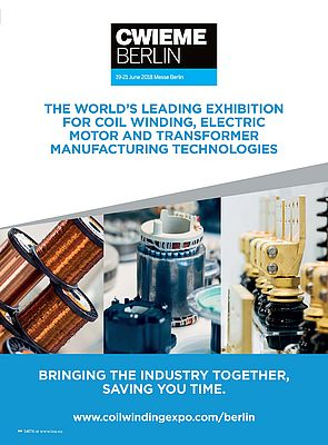 Coil Winding Expo Berlin, June 19 to 21 2018