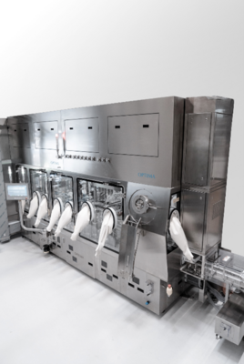 The new INTISO isolator from Metall+Plastic is the leading containment solution for standard applications. It combines the highest levels of pharmaceutical safety with time and cost benefits. (Source: Optima)