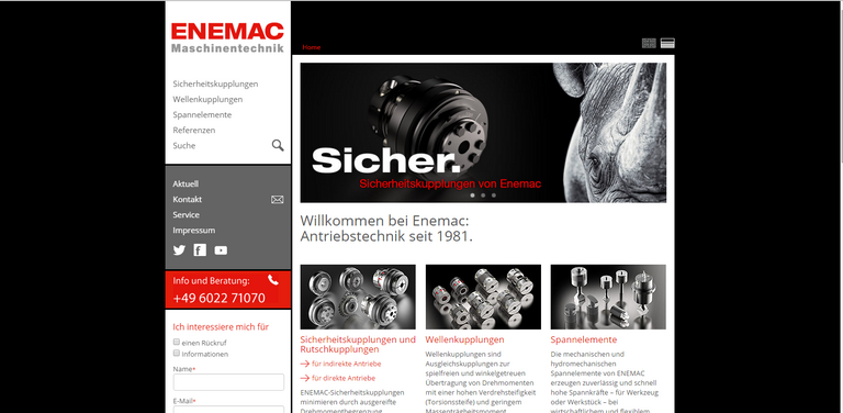 New Look and Functionalities for ENEMAC Website