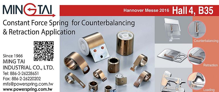 Constant Force Spring for Counterbalancing & Retraction Application