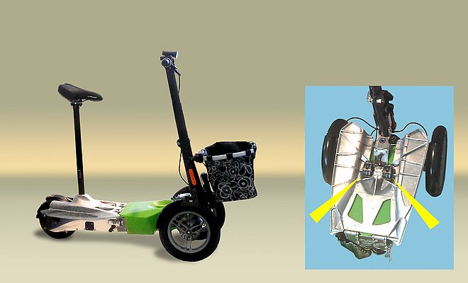 : The special feature: Due to the patented folding mechanism, Scuddy can be converted into a type of pushcart and even into a cube.