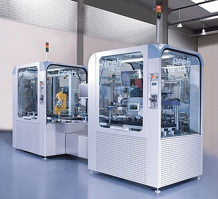 "The modular, space-saving installation system ""PrehCell"" is used in assembly lines as well as stand-alone solutions."