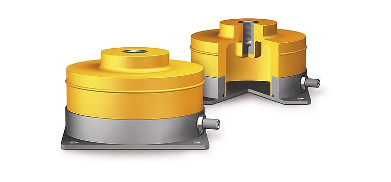 PLM air spring elements enable low-frequency vibration and shock isolation