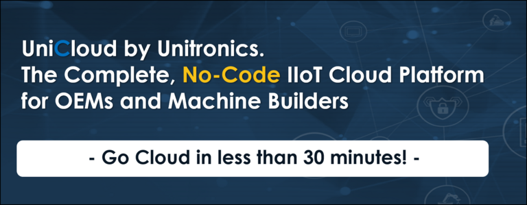 UniCloud – The Complete, No-Code, IIoT Cloud Platform for OEMs and Machine Builders by Unitronics