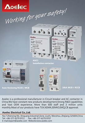 Circuit breakers and AC contactors