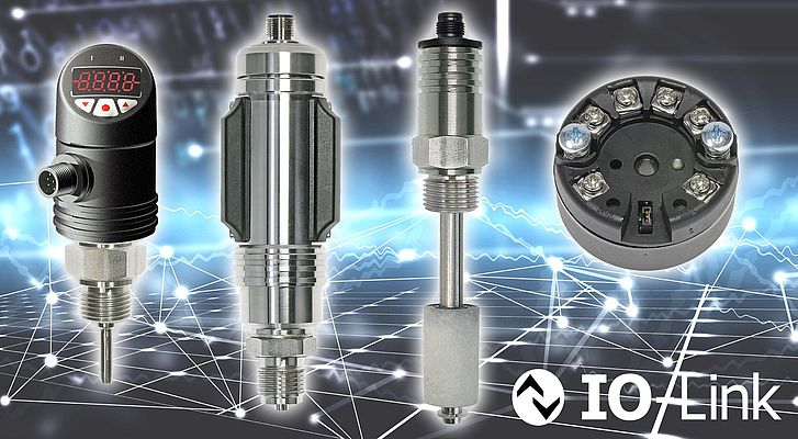 Temperature and Pressure Sensors with IO-LINK