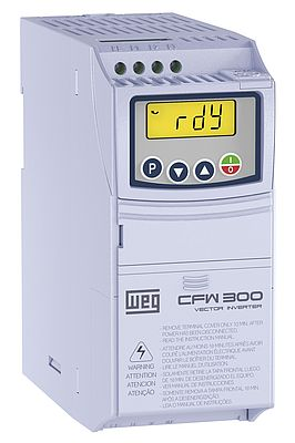 The new CFW300 variable speed drive covers the motor power range from 0.18 to 4 kW in two frame sizes
