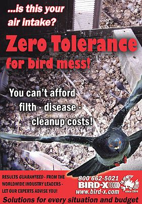 Zero tolerance for bird mess