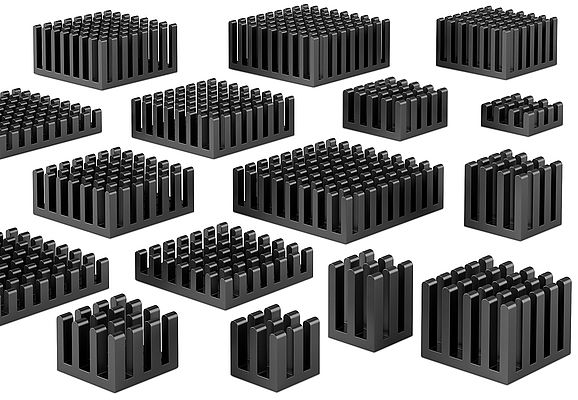 The heatsinks from Fischer Elektronik are available in different dimensions