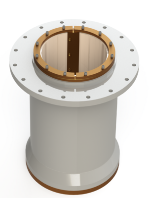 CAD rendering of the SXL bearing fitted to this application with bronze tapered keyset
