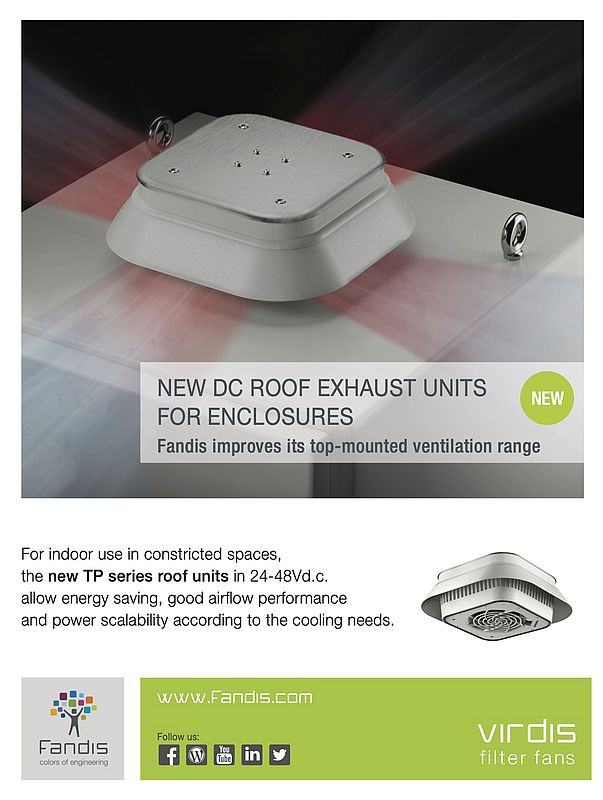 DC Roof Exhaust Units for Enclosures