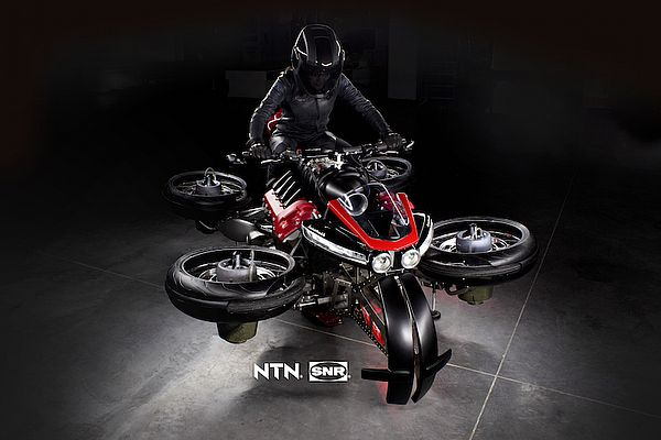 NTN-SNR Works on the First Flying Electric Motorcycle