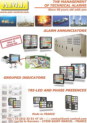 Alarm-Annunicators, Grouped Indicators, Tri-Led and Phase Presences