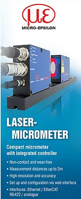 Laser-Micrometer With Integrated Controller