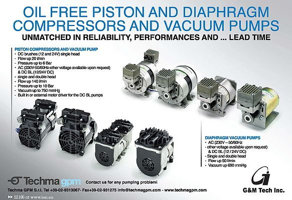 Oil Free Piston and Diaphragm Compressors and Vacuum Pumps