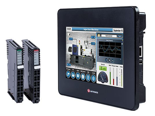 "UniStream® 7"" Built-in: PLC + HMI + I/Os"