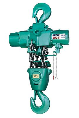 JDN Profi 100 Ti air hoist, part a series of hoists offering lift capacities from 250kg up to 100 tonnes.