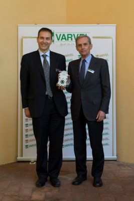 Right to left, Francesco Berselli, President of Varvel SpA and Mauro Cominoli, General Manager of Varvel SpA