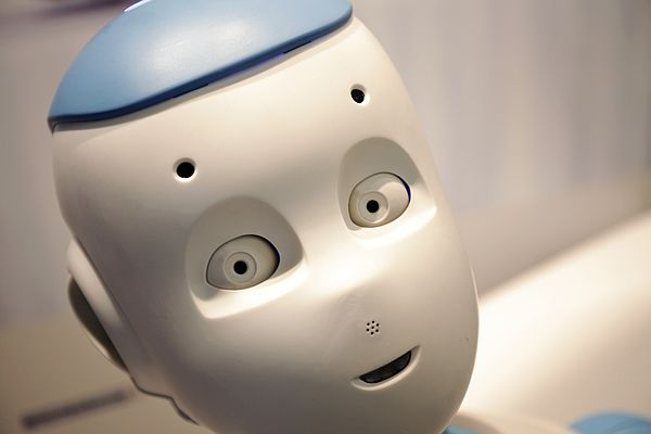 Romeo is an assistive robot, designed for helping elderly persons  in their households. DCX motors move his eyes. Images © 2014 Aldebaran