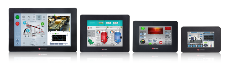Different sizes of the UniStream All-in-one PLC and HMI