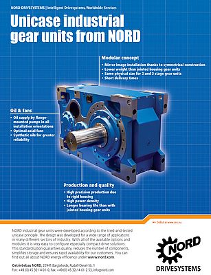 Unicase industrial gear units