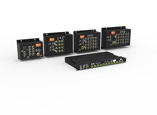 M12-based Ethernet switches for rail application