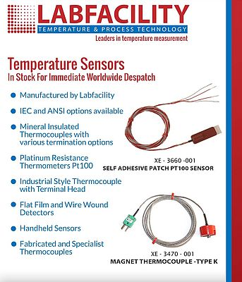 Temperature Sensors in Stock for Immediate Worldwide Despatch