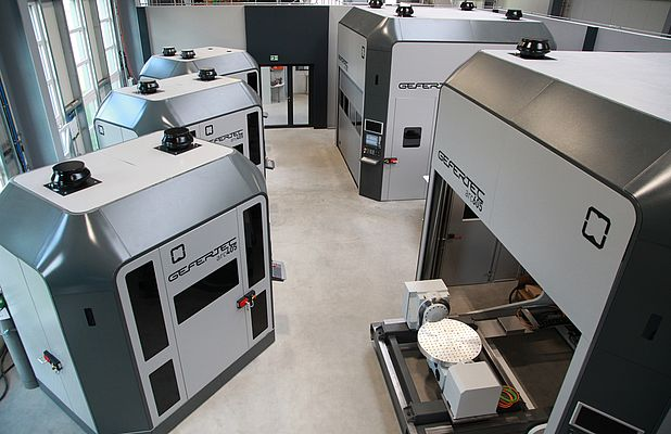 The Gefertec Application Center has several different arc machines in operation