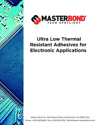 Ultra Low Thermal Resistant Adhesives