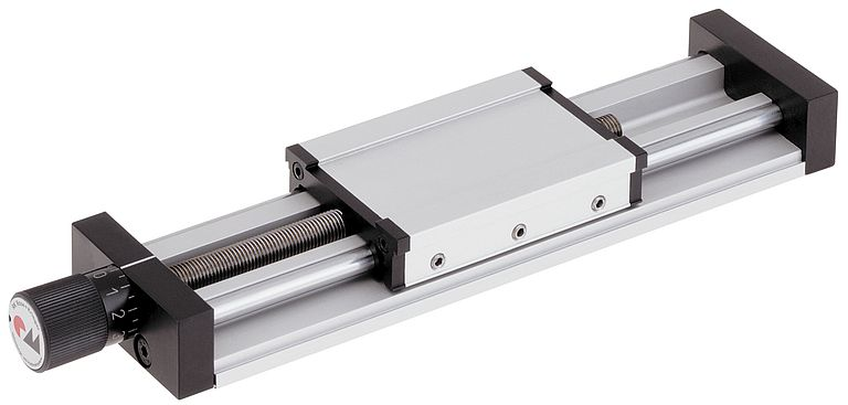 The compact RK linear unit with spindle drive and a choice of right- or left-hand thread.