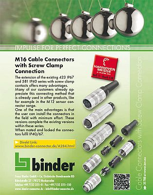 M16  cable connectors