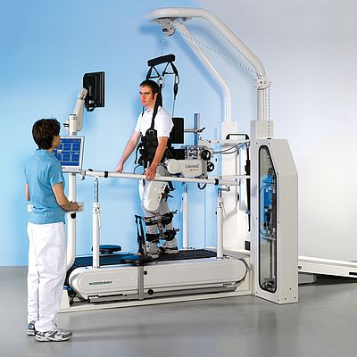 The motion therapy robot Lokomat from Hocoma
