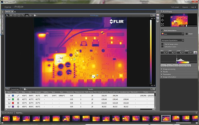 The FLIR ResearchIR software for R&D applications