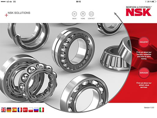 NSK has Updated its Solutions App