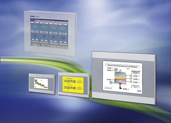 "The new operating panels for the measuring, control, and automation system JUMO mTRON T are available with diagonal screen measurements ranging from 3.5"" to 15""."