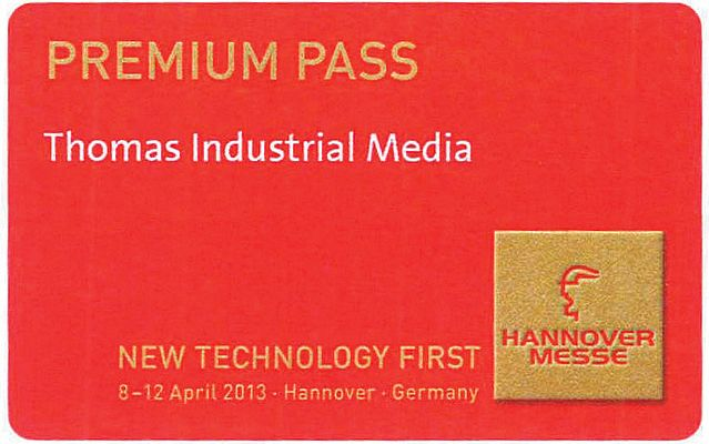 Win a Premium Pass for HANNOVER MESSE 2013