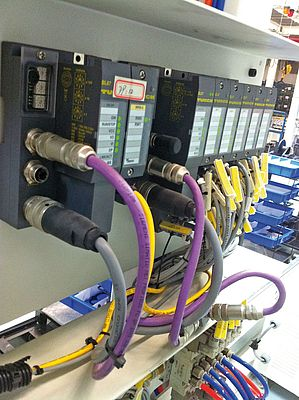 Turck's BL67 I/O system provides communication with the PLC via Modbus TCP and Profibus DP