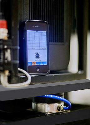 No vibrations are measurable with ACE's VibroChecker App after the installation of the PLM1 air suspension isolators