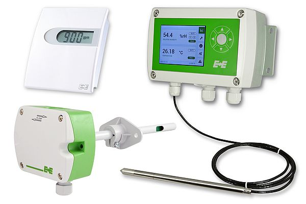 E+E transmitters are designed for building automation and process control