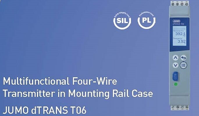 Jumo Multifunctional Four-Wire Transmitter in Mounting Rail Case