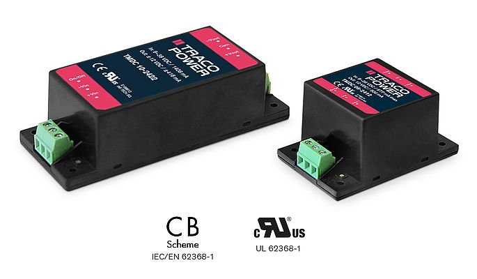 TMDC 06 & 10: Compact 6 & 10 Watt DC/DC Chassis Mount Modules